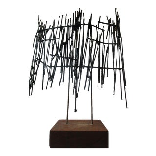 1969 Abstract Metal Sculpture For Sale