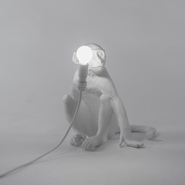 Seletti, Sitting Monkey Lamp, White, Marcantonio, 2016 For Sale - Image 10 of 11