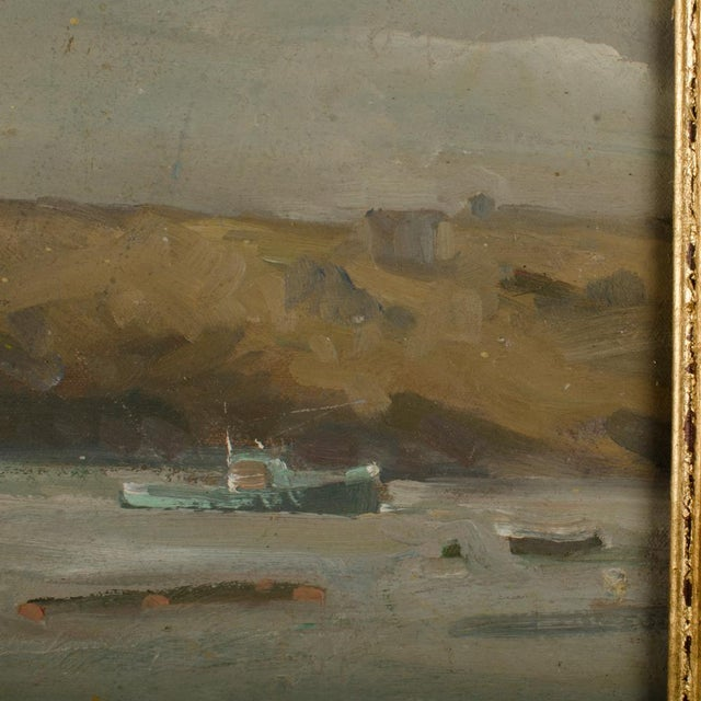 """2000 - 2009 """"Misty Morning"""" Contemporary Coastal Landscape Oil Painting by Theodore Tihansky, Framed For Sale - Image 5 of 7"""