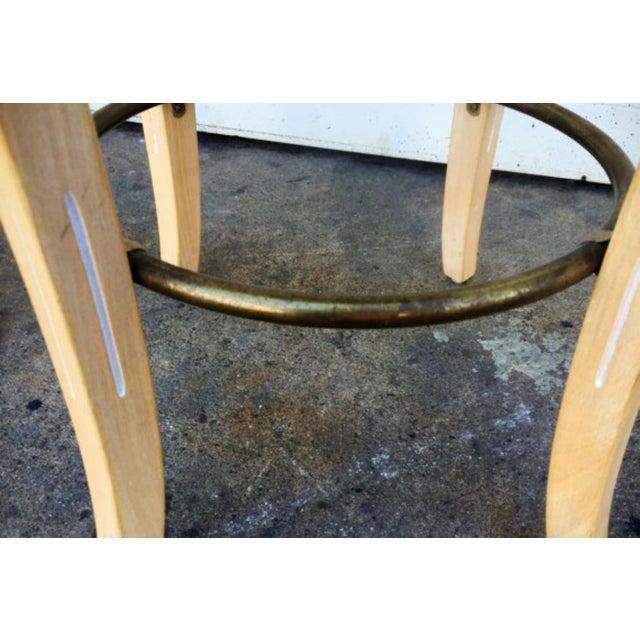 Vintage Shell Carved Bar Stools - Set of 4 - Image 5 of 6