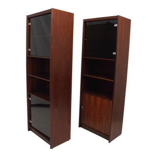 Pair of Danish Modern Rosewood Bookcases For Sale