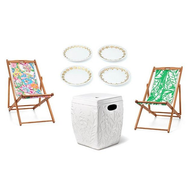 Minimalism Lilly Pulitzer for Target Ceramic Garden Stool For Sale - Image 3 of 3