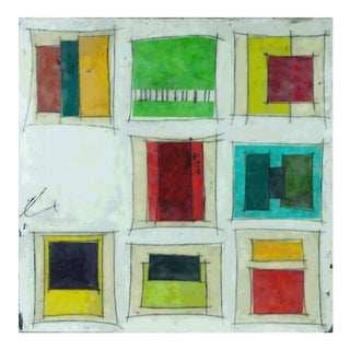 "Gina Cochran ""Places to Be No. 4"" Encaustic Collage Painting"
