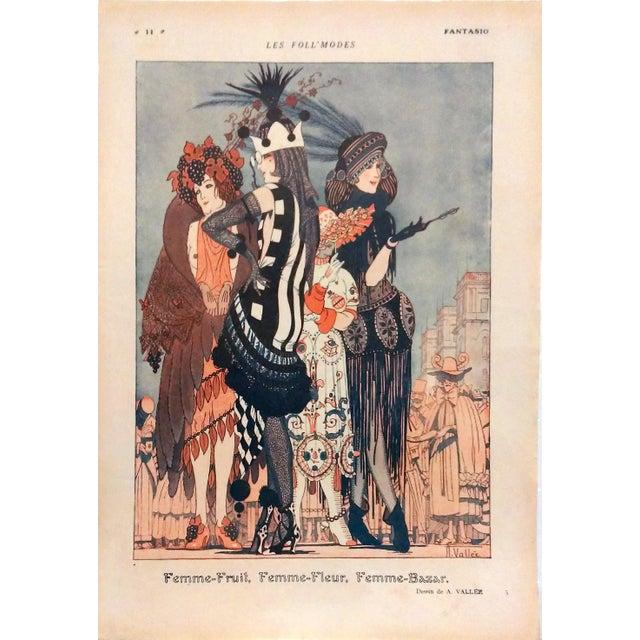 "Armand Valle 1919 Fantasio ""Les Foll' Modes"" Print - Image 1 of 5"