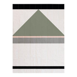 Louise Gray Throw Quilt No. 8 For Sale