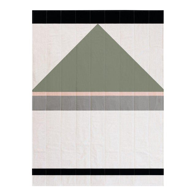 Louise Gray Throw Quilt No. 8 - Image 1 of 9