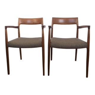 Modern Niels Otto Moller Model 57 Armchair- A Pair For Sale