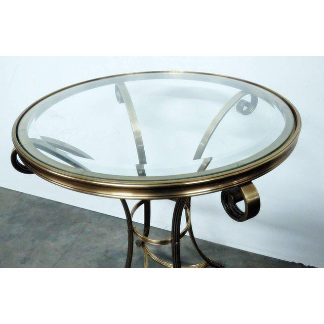Hollywood Regency Style Glass Top Gueridon For Sale - Image 4 of 6