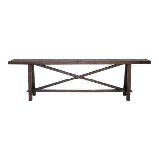 Reclaimed Wood Console For Sale