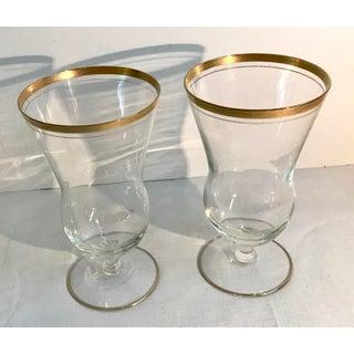 Vintage Gold Rim Cocktail Glasses - a Pair Preview