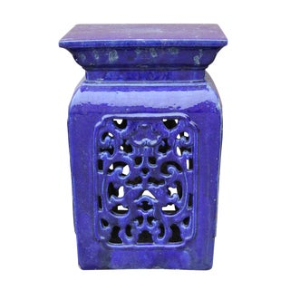 Chinese Blue Clay Garden Stool For Sale