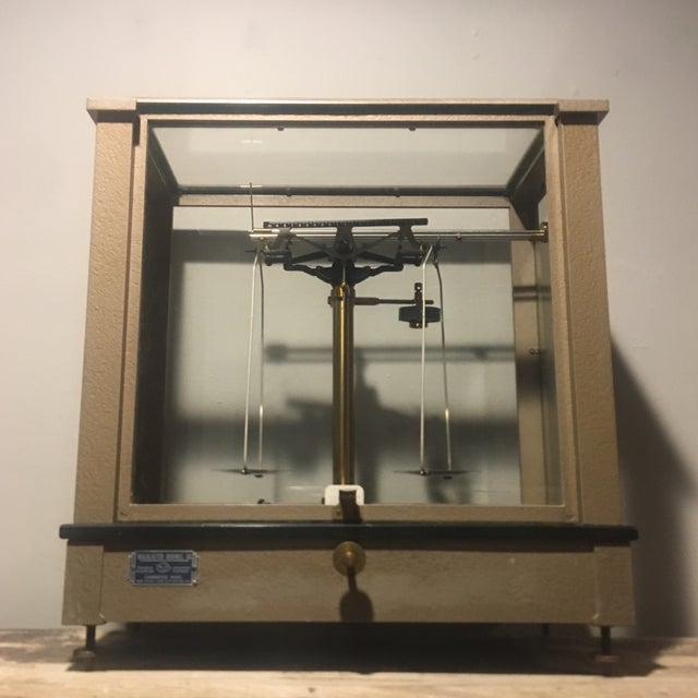 Antique Ainsworth Analytical Balance Scale - Circa 1930's For Sale - Image 13 of 13