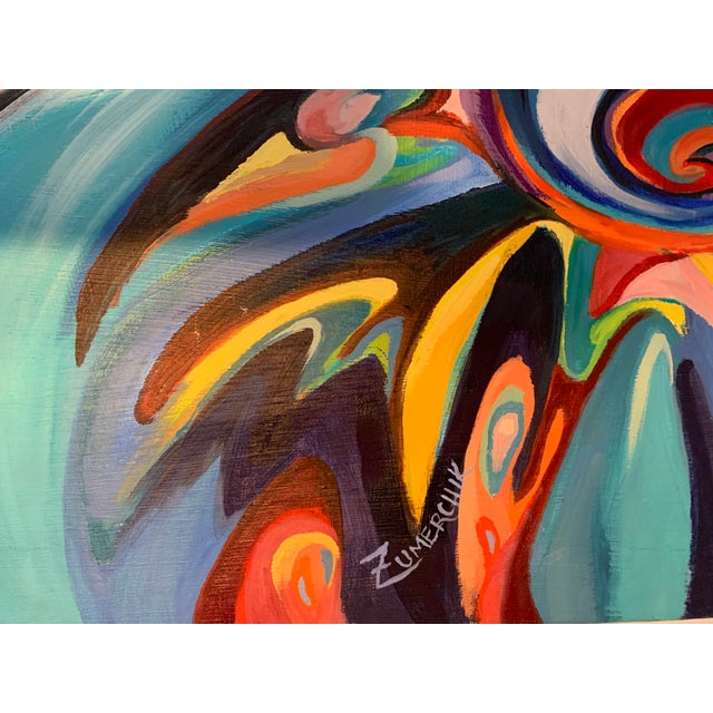 Large Surrealist Canvas Painting For Sale - Image 9 of 13
