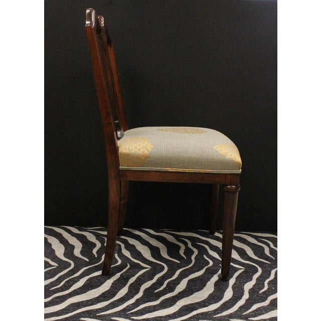 Wood Mahogany Side Chairs - A Pair For Sale - Image 7 of 7