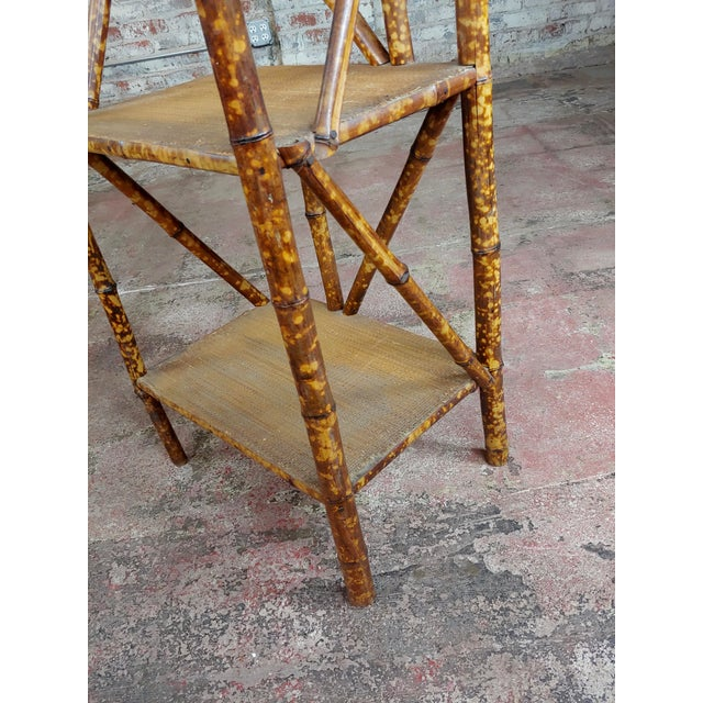 Bamboo 19th Century Original Victorian 5 Tier Bamboo Bookstand For Sale - Image 7 of 9