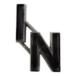 "1940s Mid-Century Modern Black Letter Store Sign - ""IN"""