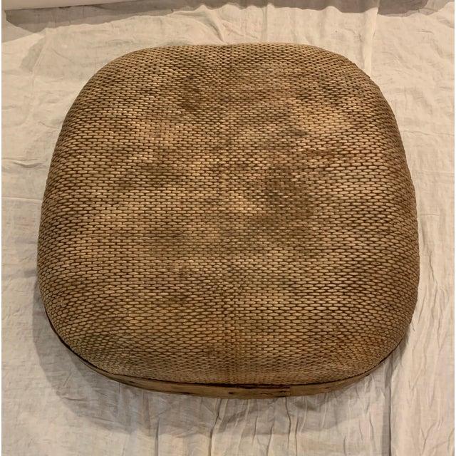 Brown Vintage Asian Market Basket For Sale - Image 8 of 9