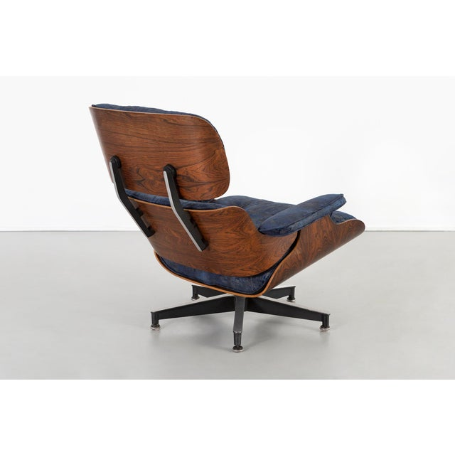 Early Production Eames Rosewood Lounge Chair and Ottoman For Sale In Chicago - Image 6 of 13
