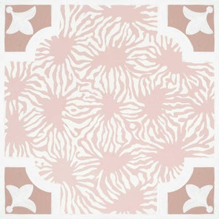 Celerie Kemble Blushing Blooms Hardwood Tile - Sample Tile For Sale
