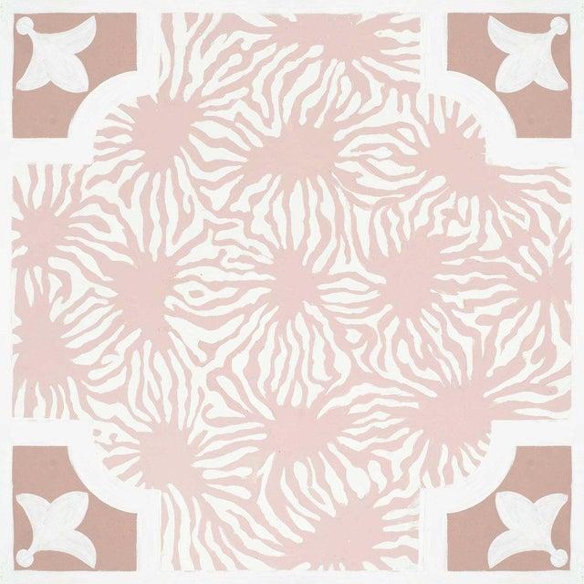 Celerie Kemble Blushing Blooms Hardwood Tile - Sample Tile For Sale