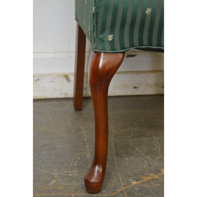 Thomasville Pair of Cherry Queen Anne Host Wing Chairs - Image 11 of 13