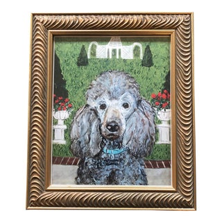 Framed Poodle Dog Print After Painting by Contemporary Artist Judy Henn For Sale