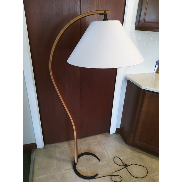 VIntage 1970s Danish Modern Mads Caprani Bent Teak Floor Lamp For Sale - Image 12 of 13