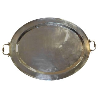 Silver Plated Butler's Tray For Sale