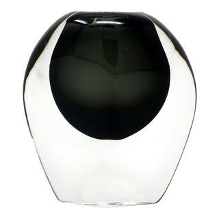 Smoked Glass Vase by Nils Landberg for Orrefors For Sale