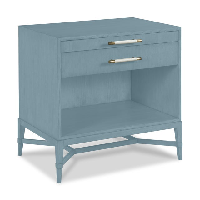 Modern Shea Bedside Table, Chiswell Blue For Sale - Image 3 of 3