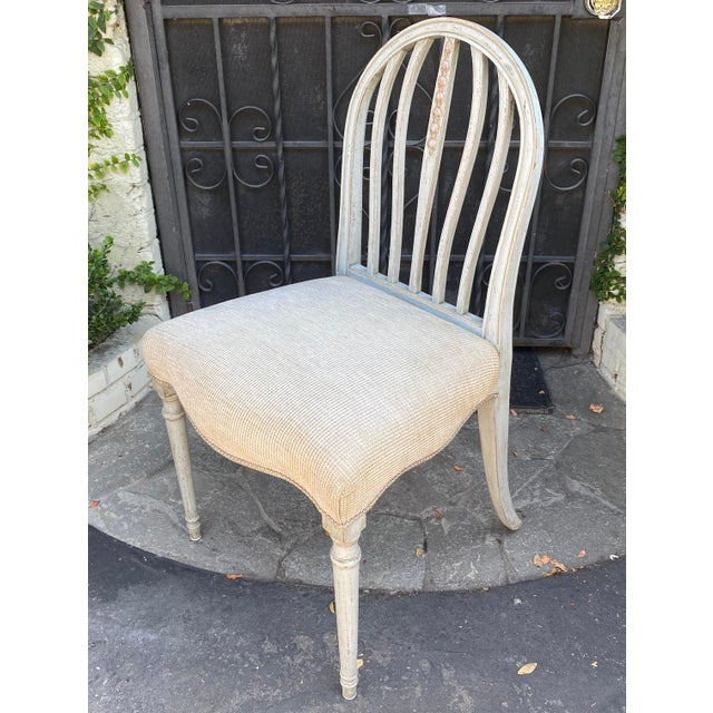 Gustavian Style Swedish Paint Decorated Side Chair