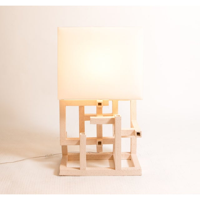 Contemporary Italian Ceramic Table Lamp For Sale - Image 3 of 3