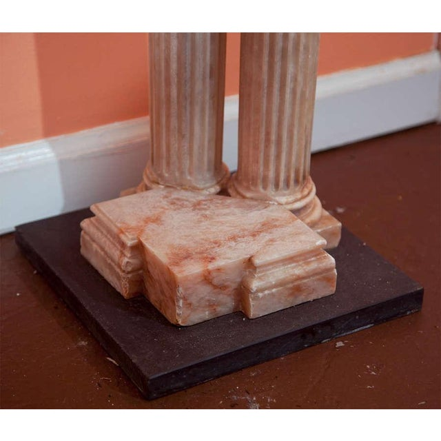 Neoclassical Alabaster Column Console For Sale - Image 4 of 7