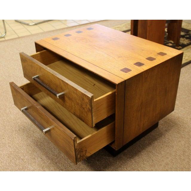 Mid Century Modern Lane Rosewood Bedroom Set Dresser Headboard Cabinet - Set of 6 For Sale - Image 11 of 13