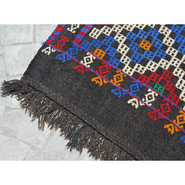 """Hand-Woven Rug Kilim Braided Nomadic Rug - 5' X 8'4"""" For Sale - Image 11 of 12"""