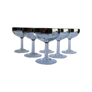 Mid Century Silver Fade Coupes - Set of 6 For Sale
