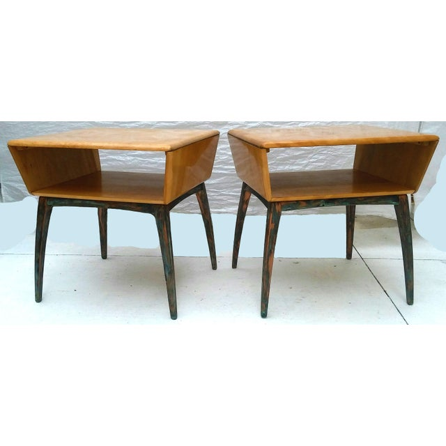 Heywood-Wakefield Side Tables - A Pair - Image 5 of 10