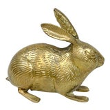 Image of Vintage Large Brass Bunny For Sale