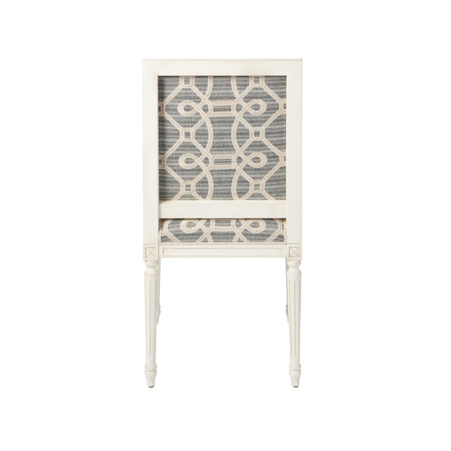 Schumacher Schumacher Marie Therese Ziz Embroidery Strié Hand-Carved Beechwood Side Chair For Sale - Image 4 of 11