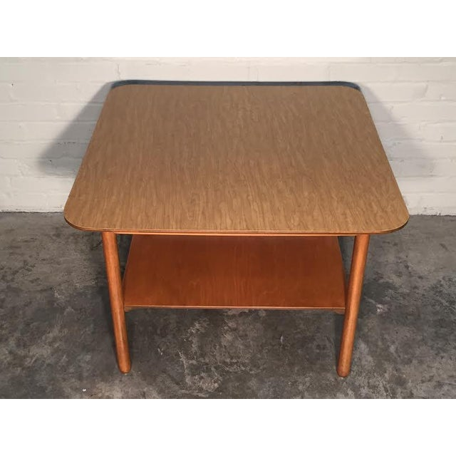 Mid-Century Modern Corner End Table - Image 3 of 10