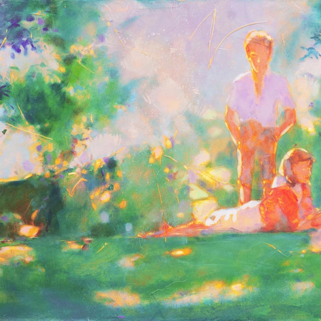 1990s 'Sunlight Through the Leaves' For Sale - Image 5 of 8