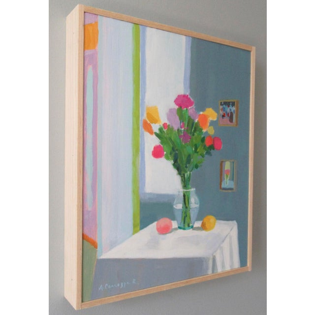 French Bouquet, Peach and Creamer by Anne Carrozza Remick For Sale - Image 3 of 5