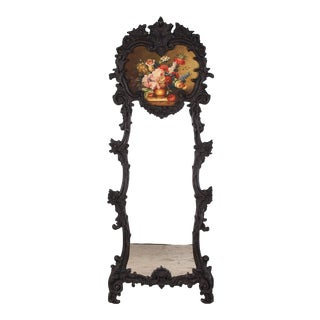 1920s French Rococo Style Trumeau Mirror For Sale