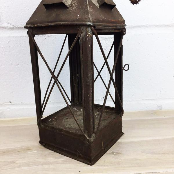 Antique Rustic French Style Candle Lantern - Image 4 of 10