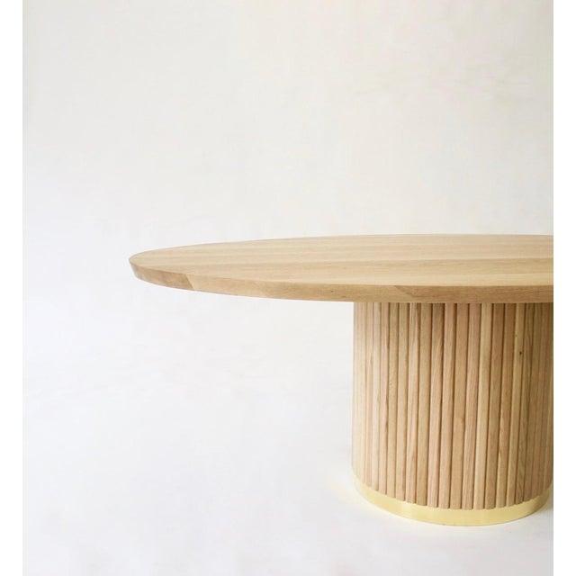 Audubon Pedestal Oak Dining Table For Sale - Image 4 of 5