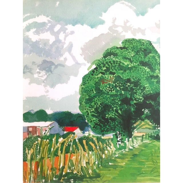 """David Hockney Fine Art Lithograph Print Midsummer : East Yorkshire Series """" Road and Tree Near Wetwang """" 2004 For Sale In Kansas City - Image 6 of 13"""