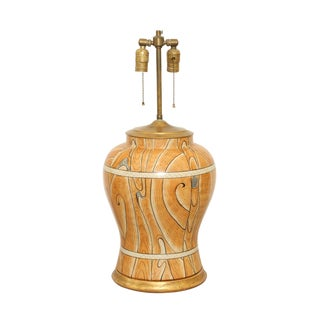 Faux Bois Vase Lamp For Sale