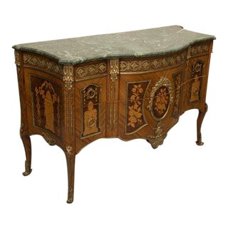Louis XVI Transitional Style Inlaid Commode For Sale
