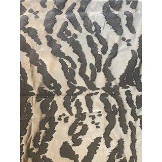 Bevilacqua Hand Loomed Silk Brocade Animal Print Fabric For Sale