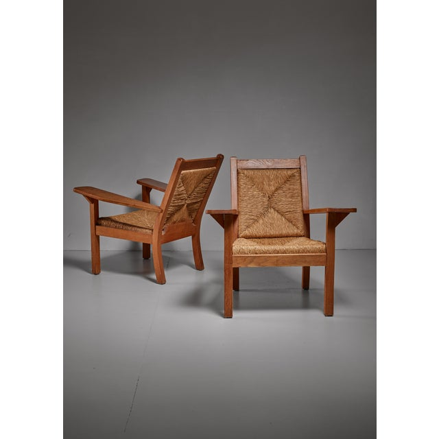 Pair of Worpsweder armchairs by Willi Ohler, Germany - Image 1 of 3